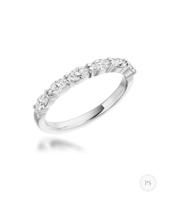 Marquise Cut Diamond Set Eternity Ring