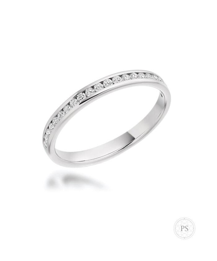 Slim Full Set Round Brilliant Cut Diamond Eternity Ring